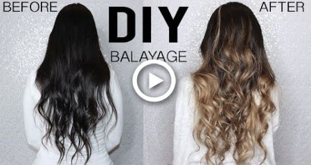 How To Diy Balayage Ombre Hair Tutorial At Home From Dark To Blonde Diy Balayage Ombre Hair Tutorial Diy Ombre Hair