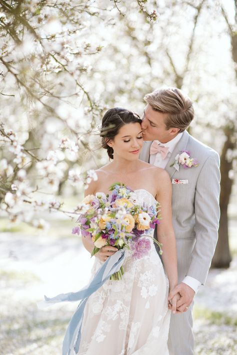 Whimsical Almond Orchard Blossom Wedding Inspiration – Playful Soul Photography 27  Blossoming orchards are the perfect backdrop for a nature-filled outdoor celebration.  #bridalmusings #bmloves #wedding #weddinginspo #weddinginspiration #blossom #orchard #outdoorwedding