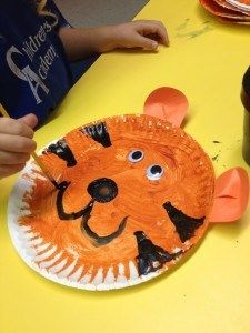 T is for tiger and sea turtle! Paper Plate ... & Tiger Craft | Tiger crafts Tigers and Craft