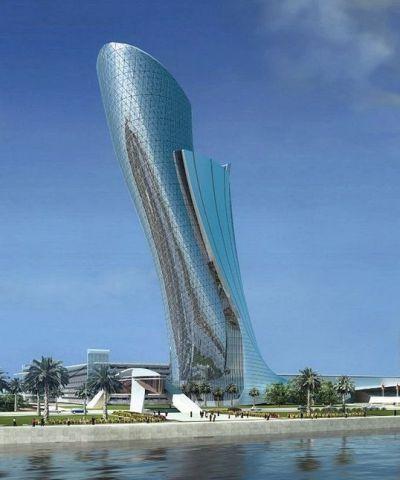 برج أبوظبي المائل بمدينة أبوظبي في الامارات Building Tower Skyscraper