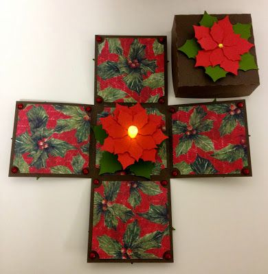 """Explosion boxes are the perfect gift for any occasion. The integrated LED tea-light gives it a special """"wow"""" effect."""