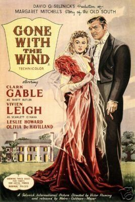 VINTAGE GONE WITH THE WIND CLARKE GABLE MOVIE Art Poster 12x18 24x36