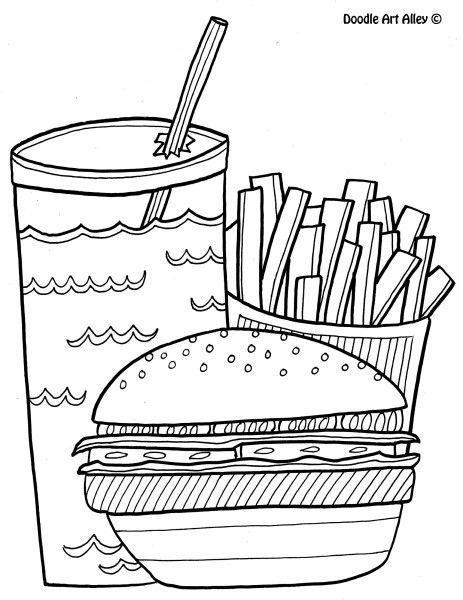 نقاشی اسکرپ بوکی قهرمان خوراکی کشیدن باشیم Food Coloring Pages