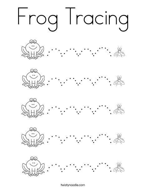 Frog Tracing Coloring Page Shape Worksheets For Preschool Preschool Prewriting Prewriting Skills Preschool learning worksheets uk