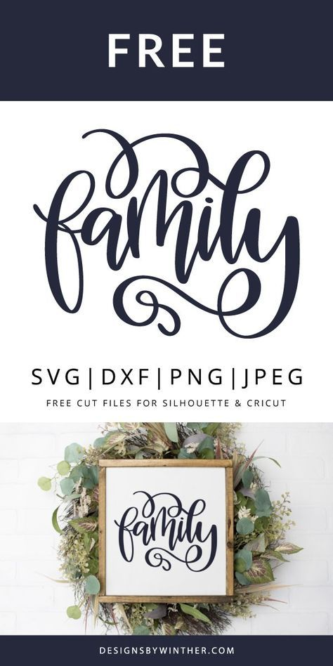 Free hand lettered family svg file for your cutting machines, such as silhouette and cricut. Use on things like signs, home decor, tea towels, scrapbooking and more. svg files for cricut signs Free Family SVG DXF PNG & JPEG Cricut Fonts, Svg Files For Cricut, Free Svg Fonts, Free Fonts For Cricut, Cricut Monogram, Free Fonts Download, Free Svg Cut Files, Monogram Fonts, Free Downloads