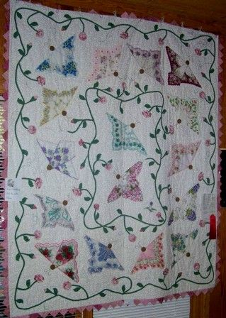Butterfly hankie quilt | Quilts | Pinterest | Butterfly ... : handkerchief quilts instructions - Adamdwight.com