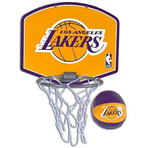 Spalding Los Angeles Lakers Mini Hoop Set Mini Basketballs Basketball Backboard Indoor Basketball Hoop