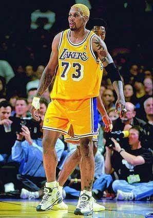 Dennis Rodman 73 Los Angeles Lakers Dennis Rodman Dennis Rodman Lakers Sports Basketball