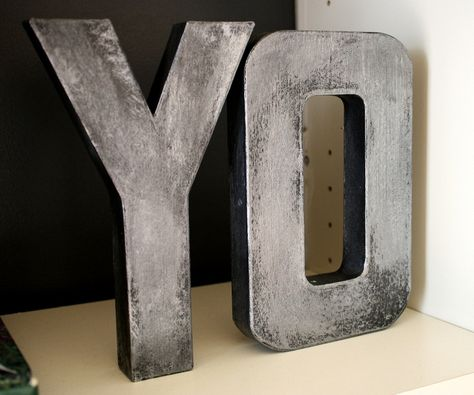 Tutorial to make the Zinc looking Letters