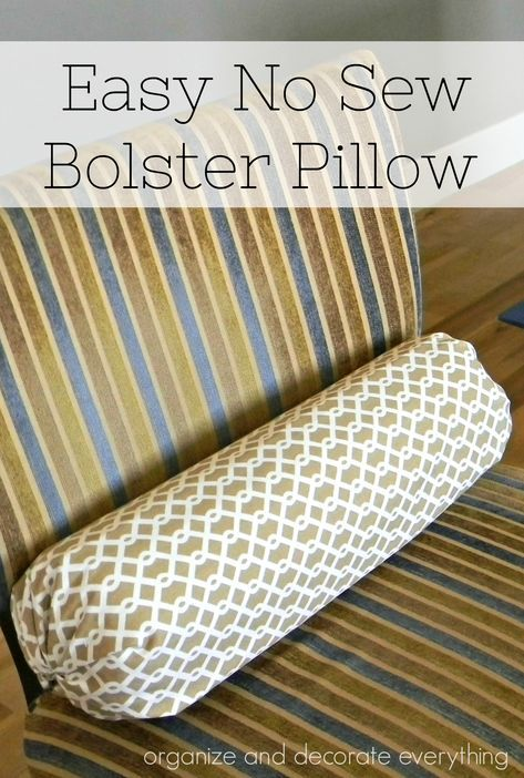 How to Make an Easy DIY Bolster Pillow