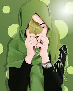خلفيات بنات محجبات كرتون Hijab Cartoon Art Art Girl