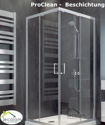 Duschkabine Viereck Dusche Transparentes Glas 80x80 X 165 Cm