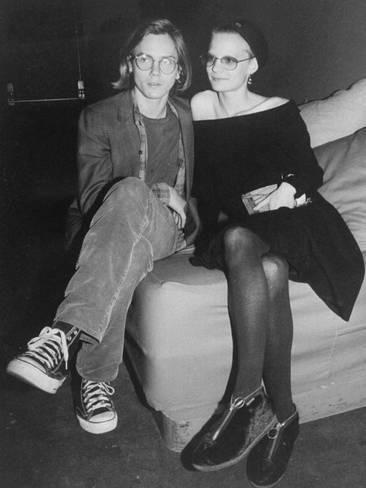Premium Photographic Print: Actors River Phoenix and Martha Plimpton at a Rock Against Fur Concert at the Palladium : 24x18in