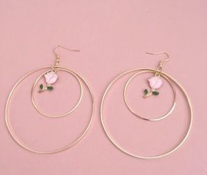 Natural Mother Of Pearl Calla Lily Drop Earrings In 14k Gold Drop Earrings Hoop Earrings Small Unique Earrings
