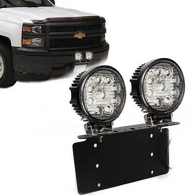 47 49 For Chevy Tahoe Gmc Yukon 2x 27w Led Fog Light Bar Mount On Front License Plate Placement On Vehicle Front Manufacturer Bar Lighting Gmc Yukon Chevy