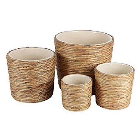 4er Set Wasserhyazinthen Pflanztopfe Keramiktopf Blumentopf