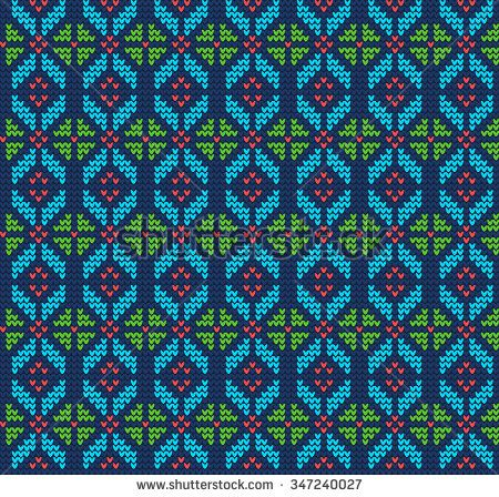 d60dafb2da837 Vector Illustration of Ugly sweater seamless Pattern for Design ...