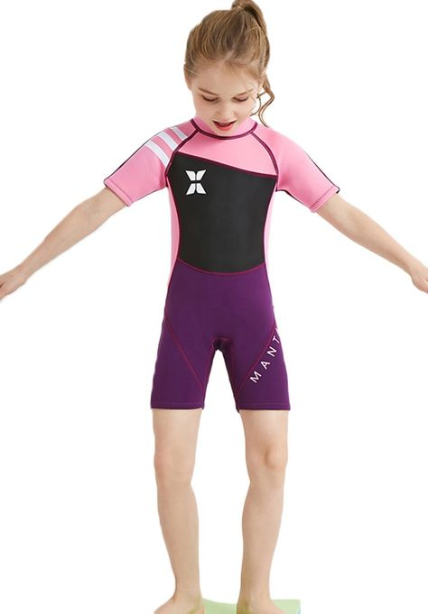 aa687d0ed8747 Canoeing - Neoprene Swimsuit Girls Boys 2.5mm Thickness Premium Short or Long  Back Zipper One Piece Thermal UV Protection Youth Swim Wetsuit   Want ...