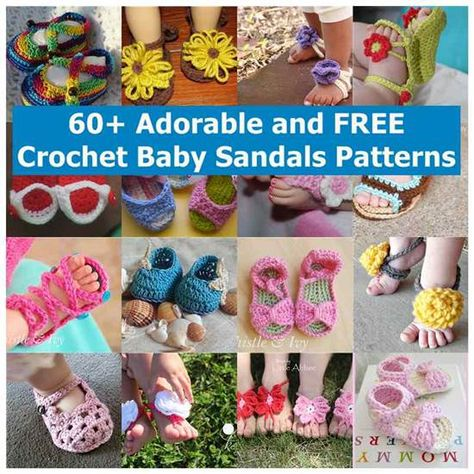 60+ Adorable and FREE Crochet Baby Sandals Patterns @iCreativeIdeas