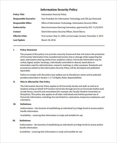 Best 5 Information Security Policy Template Pdf You Calendars Https Www Youcalendars Com Information Security Policy Policy Template Templates Security