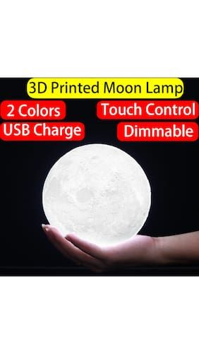 Touch Dimmable 2 Color Changing 3d Printing Moon Lamp Light With Usb Charger Diameter 10cm 3 94 Inch Lamp Buy Lamps Wall Hanging Lights