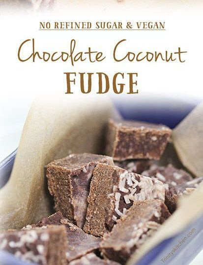 Coconut Chocolate Fudge With Creamed Coconut Or Coconut Butter