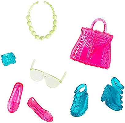 Amazon.com: Barbie Fashion Accessory Pack, Blue and Pink: Toys & Games