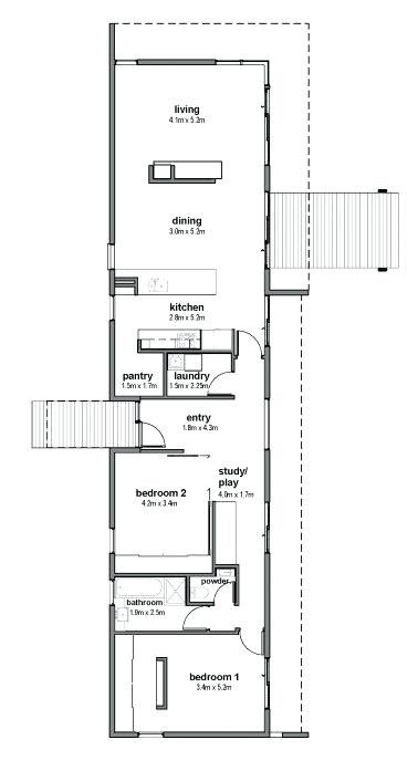 Great Floor Plan For Solar Passive Home In Google Search Long Narrow House Plans Nz Solar House Plans Passive Solar House Plans Modern House Floor Plans