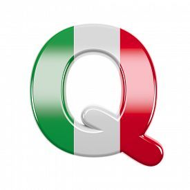 Italian Letter Q Large 3d Italy Flag Font Isolated On White Background This Alphabet Is Perfect For Creative Illu Italy Flag Lettering Creative Illustration