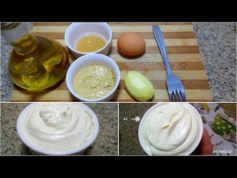 مايونيز ناجحة و مضمونة بطريقتين الاولى بدون ماكينة هشام للطبخ Youtube Food Breakfast Eggs