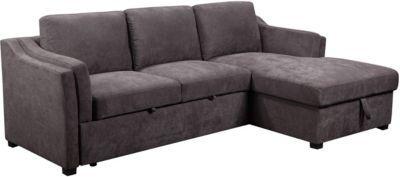 Primo International Sonnet Convertible Storage Sofa Sleeper Chaise