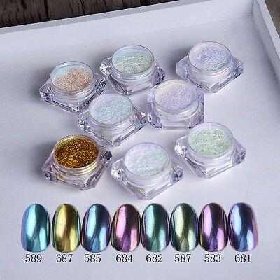 Shinny Mirror Powder Gold Silver Pigment Nail Glitter Nail Art Decal Sample Size
