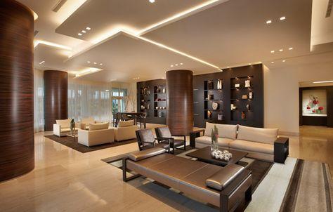 Indirekte Beleuchtung für Decke und Wand im Wohnzimmer Beleuchtung