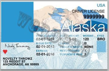This Is Template Drivers License State Alaska File Photoshop