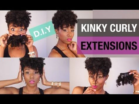 CURLY HAIR SOLUTIONS   DIY CURLY CLIP IN EXTENSIONS   CHEAP AFRO KINKY EXTENSION HAIR   UP DO