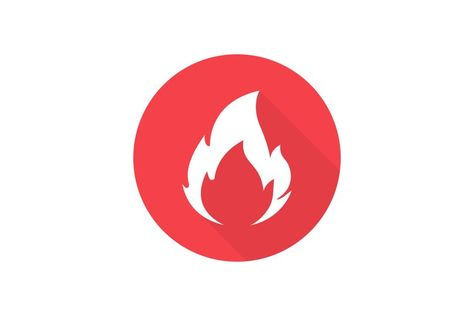 Fire flame icon. Hot symbol button. Web site page and mobile (1283875)   Icons   Design Bundles