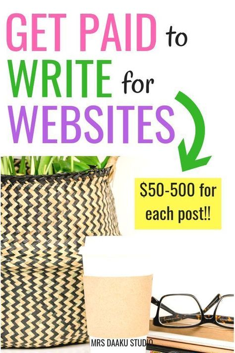 Get paid for writing - 47 legit websites to work Online and get paid instantly