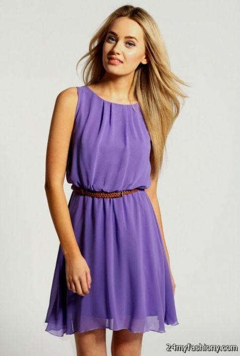 simple purple sundress 2016-2017 | B2B Fashion