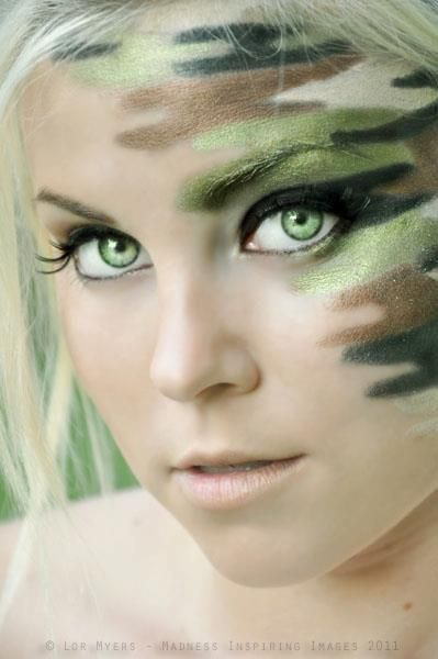 camo makeup hotdamebeauty ! I LOVE THIS !