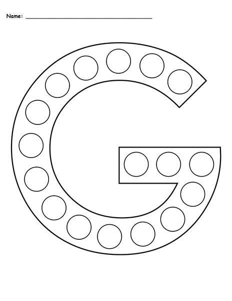 Letter G Do A Dot Printables Uppercase Lowercase Letter G Crafts Do A Dot Letter G