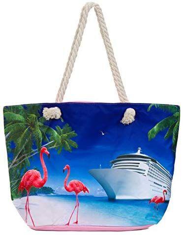 animal  illustration travel bag book bag print accessories Flamingo Party  book bag Pink Flamingo Tote Bag