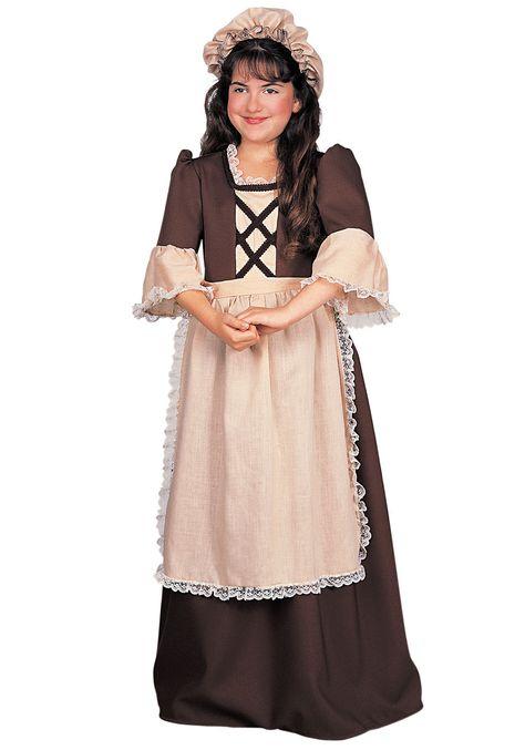 Colonial Girl Childs Revolutionary Maiden Renaissance Halloween Costume