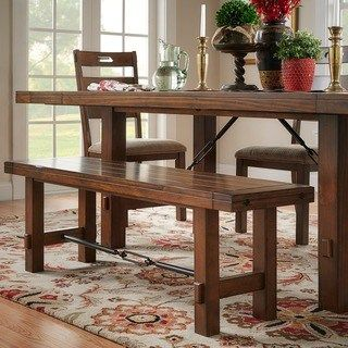 Kitchen Table Benches Swindon Rustic Oak Turnbuckle Dining Bench