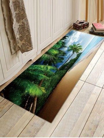 Coconut Palm Beach 3d Print Floor Mat Printed Floor Mat Vinyl Floor Mat Vinyl Flooring