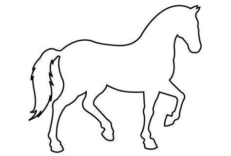 Image Result For Horse Clipart Images Black And White Horse Template Horse Outline Horse Coloring Pages