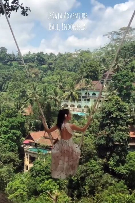 """LeKaja Adventure in Bali, Indonesia. LeKaja Bali Swing - discover the hidden beauty of Bali and swing through a tropical jungle."""