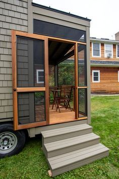 the tiny house builder s own dream home boasts elevator bed and rh pinterest com