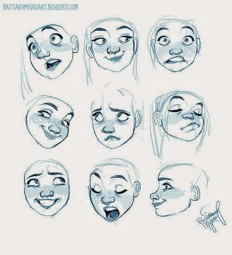 Facial Expressions Dibujos♡ Pinterest Facial Expressions   Design Mobel  Leuchten Kevin Michael Burns