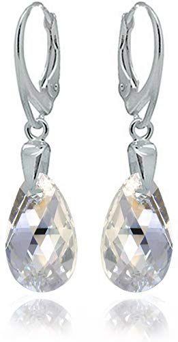 25288c8a70de7 Buy Sterling Silver 925 Drop Dangle Moonlight Leverback Earrings ...