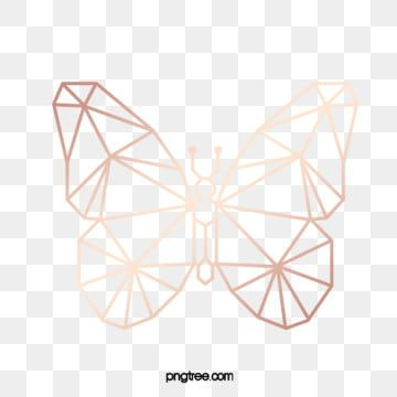 Butterfly Abstract Rose Gold Pattern Butterfly Geometric Abstract Png Transparent Clipart Image And Psd File For Free Download Gold Geometric Pattern Butterfly Clip Art Gold Clipart